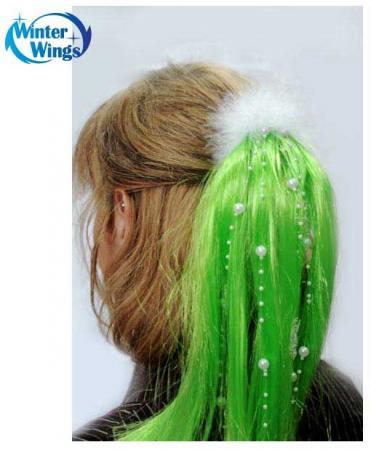 Парик карнавальный Winter Wings со снежинками карнавальный аксессуар gala вальс парик белые локоны белый