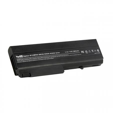 Аккумулятор для ноутбука HP Compaq nc6100, nc6200, nc6400, 6510, 6910, nx6300 Series 6600мАч 11.1V TopON TOP-NX6120H