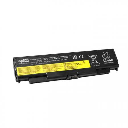 Аккумулятор для ноутбука Lenovo IdeaPad U450P 20031, U450P 3389, U550 Series 4400мАч 11.1V TopON TOP-U550 клавиатура topon top 100471 для lenovo ideapad e45 u450 u450a u450p series black