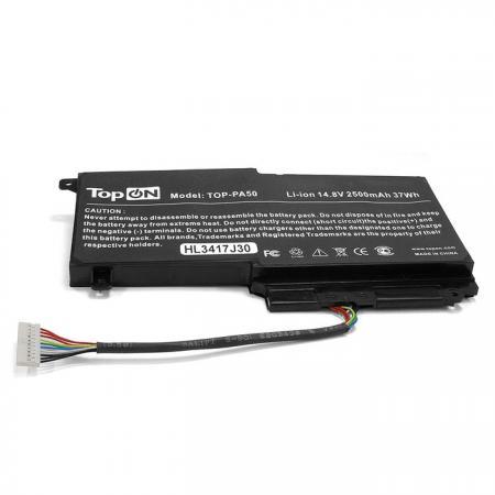Аккумулятор для ноутбука Toshiba Satellite L45, L45D, L50, L55, P50, P55, S50, S55 Series 2830мАч 14.4V TopON TOP-PA50 клавиатура topon top 100522 для toshiba satellite c800 c805 black