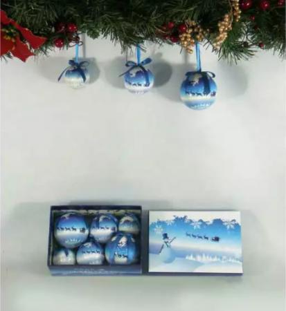 Елочные украшения Winter Wings КРАЙНИЙ СЕВЕР 5, 6, 7,5 см 6 шт пластик