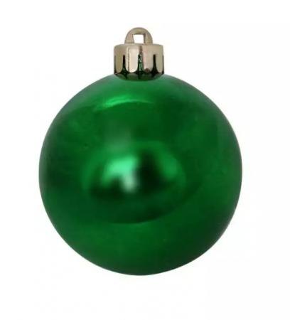Елочные украшения Winter Wings Шар блестящий 6 см 1 шт зеленый пластик цены