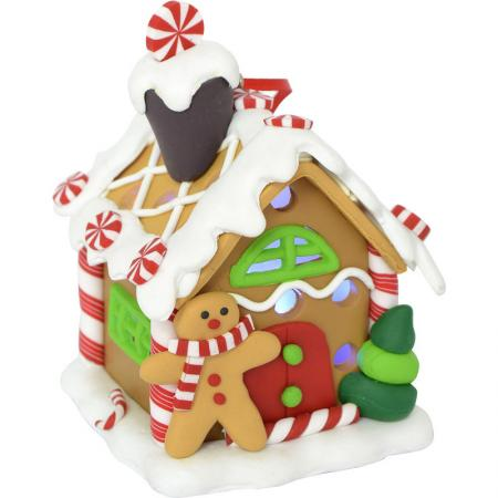 Украшение новогоднее Winter Wings Пряничный домик 6*7,5 см украшение домик с белой крышей 2х5х4см мульти