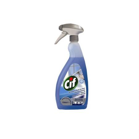 Средство чистящее CIF Window&Multisurface, для стекол, 750 мл средство чистящее cif washroom 2 в 1 для туалетных комнат 750 мл