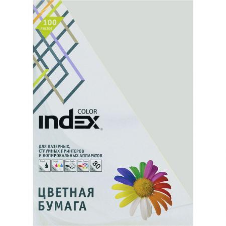 Бумага цветная Index Color, 80гр, А4, светло серый (93), 100л