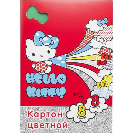 Набор цветного мелов. картона ACTION! HELLO KITTY, дв. клапан. с европод.,ф.А4,8 л.,2 диз. набор цветного мелов картона action hello kitty дв клапан с европод ф а4 8 л 2 диз