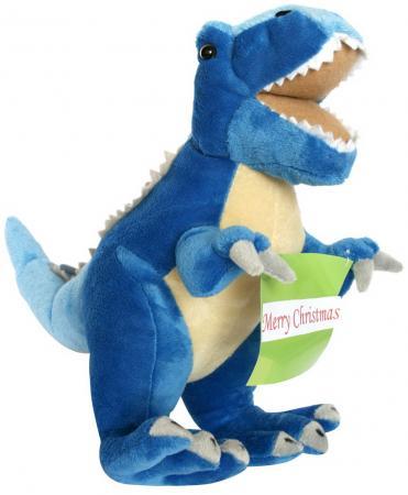 Мягкая игрушка дракон Winter Wings С поздравлением 40 см синий полиэстер