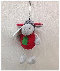 Мягкая игрушка овечка Winter Wings 15 см полиэстер