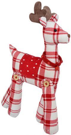 Мягкая игрушка олень Winter Wings 30 см белый красный полиэстер мягкая игрушка олень chl 500dr 28 см