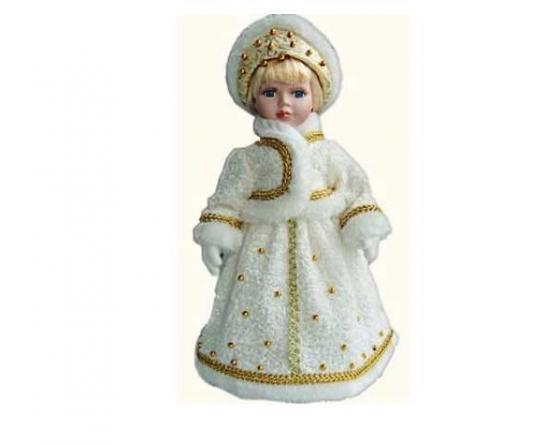 Новогодняя игрушка снегурочка Winter Wings Снегурочка 40 см белый полиэстер пластик