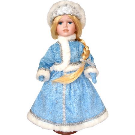 Новогодняя игрушка снегурочка Winter Wings Снегурочка 40 см белый голубой полиэстер пластик