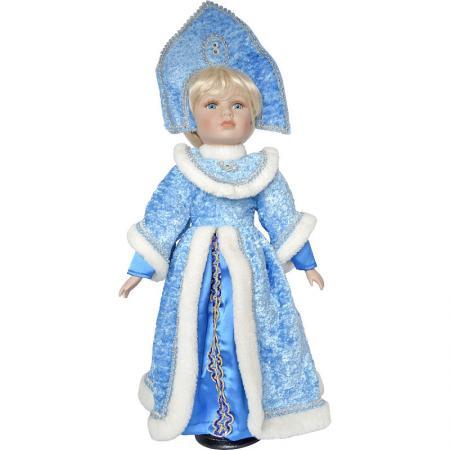 Новогодняя игрушка снегурочка Winter Wings Снегурочка 50 см белый голубой полиэстер пластик
