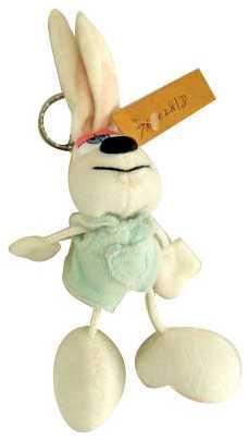 Брелок кролик Winter Wings КРОЛИК 7 см белый пластик текстиль N15068 игрушка deglingos кролик lapinos брелок deglingos