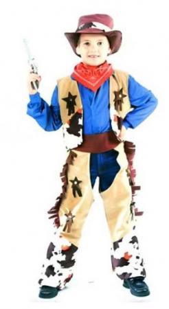 Карнавальный костюм КОВБОЙ, на 4-6,7-10,11-14лет, в пакете с европодвесом|1