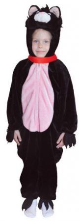 цены Карнавальный костюм КОТ, комбинезон. Размер 5-7 лет, полиэстр