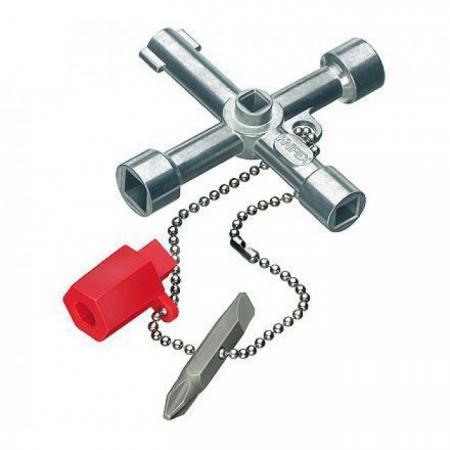 Ключ шкафной KNIPEX KN-001103 (3 / 9 мм) 76 мм knipex kn 8310015 трубный ключ 90°
