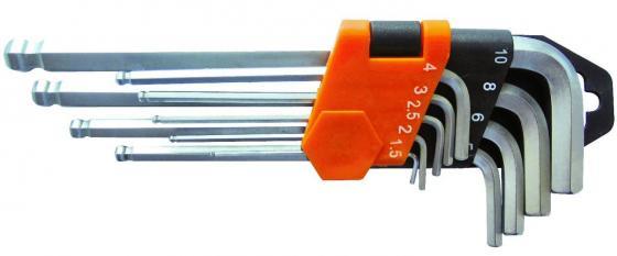 Набор ключей WEDO WD258A шестигранных с шаровой головкой 9 предметов (1.5-10мм)