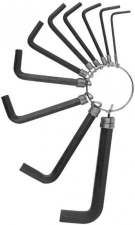Набор DEXX 27403-H10 оксидированные. на кольце. HEX. 1.5-2-2.5-3-3.5-4-5-5.5-6-8. 10шт набор ключей трубчатых dexx 27192 h10