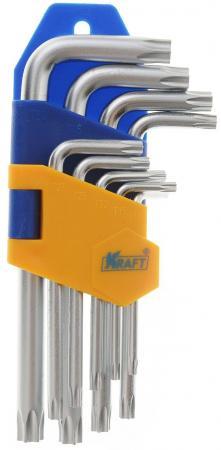 Набор ключей KRAFT КТ 700567 шестигранных torx короткие 9шт. набор шестигранных ключей 9шт vira 303147