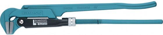 Ключ трубный рычажный GROSS 15603 №2 1,5 цельнокованный CrV, тип - L ключ трубный кобальт 647 437 2 500 мм рычажный тип l cr v