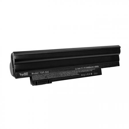 Аккумулятор для ноутбука Acer Aspire One 522, 722, D255, D257, D260, D270, Happy, eMachines eM355, Gateway LT23, LT2304C Series 4400мАч 11.1V TopON TOP-AC-AL10 аккумулятор tempo lpb 751 11 1v 4400mah for acer aspire one 531h 751h ao751h aspire one zg3 zg8 series