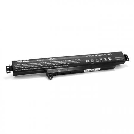 Аккумулятор для ноутбука Asus VivoBook F102BA, X102B, X102BA 2940мАч 11.25V TopON TOP-AS102 клавиатура topon top 100317 для asus x401 x401a x401u black