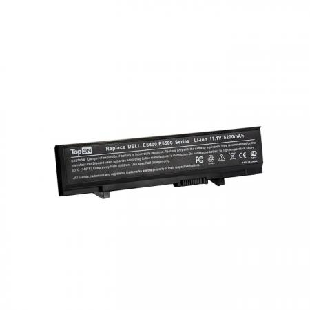 Аккумулятор для ноутбука Dell Latitude E5400, E5410, E5500, E5510 Series 5200мАч 11.1V TopON TOP-E5400 клавиатура topon top 100522 для toshiba satellite c800 c805 black