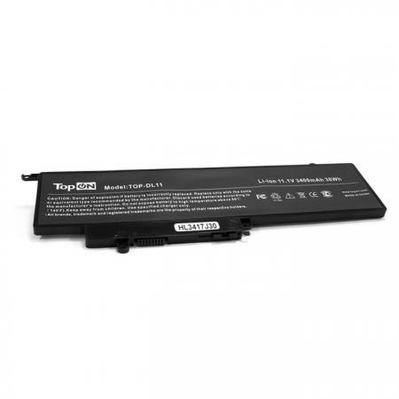 Аккумулятор для ноутбука Dell Inspiron 11-3000, 11-3147, 13-7000, 13-7347, 13-7348 Series 3400мАч 11.1V TopON TOP-DL11