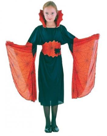 Карнавальный костюм КОРОЛЕВА ПАУКОВ, на 7-10, 11-14, в пакете с европодвесом