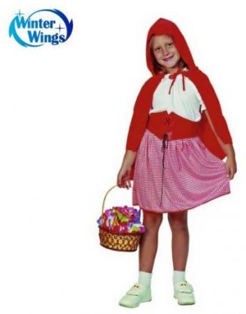Карнавальный костюм КРАСНАЯ ШАПОЧКА, на 4-6, 7-10, в пакете с европодвесом|1