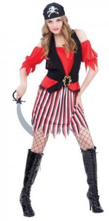 Карнавальный костюм ПИРАТКА, в пакете с европодвесом|2