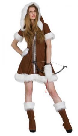 Карнавальный костюм ЭСКИМОСКА, полиэстр, размеры: 42-44, 44-46 цены