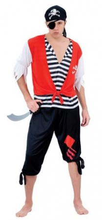 Карнавальный костюм ПИРАТ, в пакете с европодвесом|2