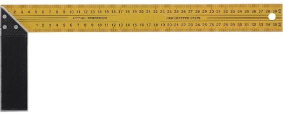 цена на Угольник FIT 19440 столярный желтый 400мм
