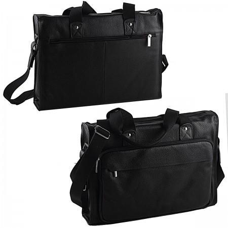 Сумка деловая, кожа, черная, разм. 42х10х30 см портфель сумка кожа комбинированный черный с тёмно коричневой отделкой разм 38х11х30 см