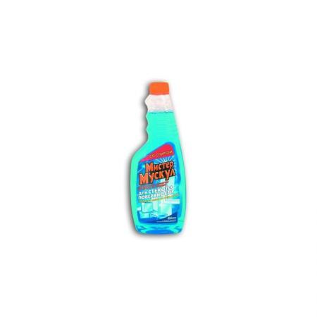 Средство чистящее МИСТЕР МУСКУЛ, для стекол, запасной блок, с нашатырным спиртом, 500 мл бытовая химия mr muscle профессионал с нашатырным спиртом зеленый для стекол сменный бутыль 500 мл
