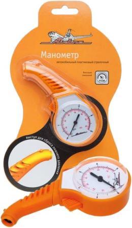 Манометр AIRLINE APR-M-05 стрелочный пластиковый 5Атм манометр автомобильный airline apr d 04 до 7атм