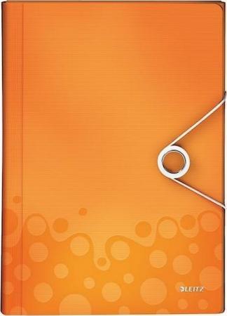 Папка для проектов Leitz Wow А4, до 200 листов,6 отделений,полипропилен, оранжевый цена
