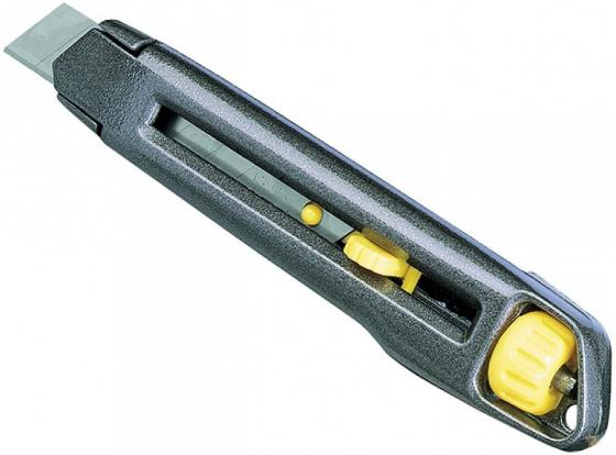 Нож STANLEY 0-10-018 INTERLOCK S/OFF BL 18мм в упаковке (металический) нож строительный stanley interlock snap off