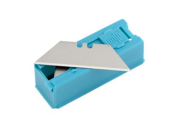 Лезвия для ножа GROSS 79376 19мм трапециевидные, пластиковый пенал, 12шт