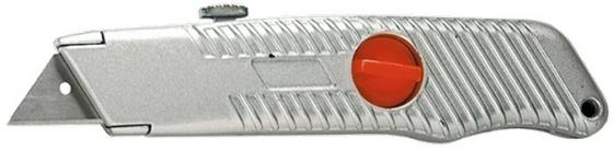купить Нож MATRIX 78964 18мм выдвижное трапециевидное лезвие металлический корпус по цене 240 рублей