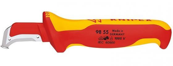 Нож для снятия изоляции KNIPEX 9855 1000 V 155мм хирургическая сталь, закаленная на воздухе нож для снятия изоляции nws 2048