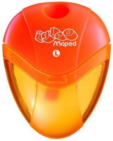 "Точилка Maped ""Gloo"" пластик оранжевый (для левшей) maped точилка i gloo 2 отверстия цвета ассорти пластиковая"