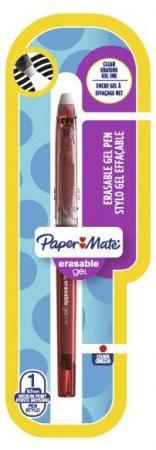 Ручка с гелевыми стираемыми чернилами InkJoy Erasable Gel,с ластиком, красная, 0.7 мм