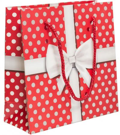 Пакет подарочный Winter Wings Пакет подарочный бумажный ламинированный ЛЮКС 160х160х65 мм пакет подарочный winter wings пластиковый 30 х 30 х 10 см в ассортименте