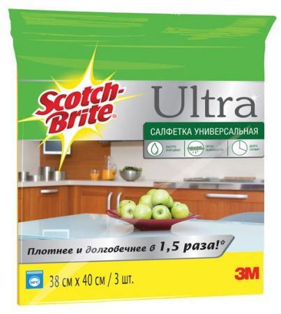Салфетка универсальное 3M Scotch-Brite 3шт kitmmm6094mmm8200 value kit scotch photo mount spray adhesive mmm6094 and 3m n95 particle respirator 8200 mask mmm8200