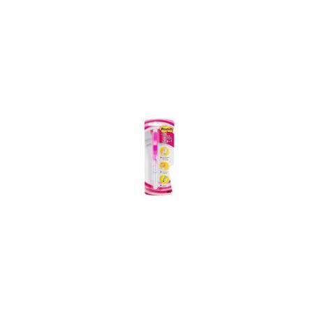 Ручка POST-IT 3-в-1:маркер-текстовыделитель розовый, шарик.ручка белая,0,5мм, 50 розовых закладок. ручка post it 3 в 1 маркер текстовыделитель розовый шарик ручка белая 0 5мм 50 розовых закладок