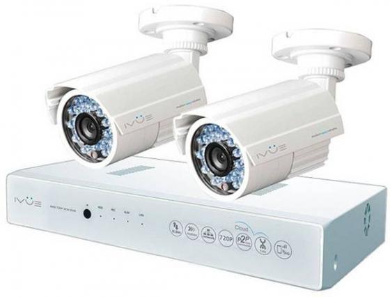 Комплект видеонаблюдения IVUE D5004 AHC-B2 матрица 1/4 HD CMOS объектив 3,6мм ИК подсв.ноч.до20м видеонаблюдение ivue ahd 1 mpx дома и офиса 4 2 ivue d5004 ahc d2