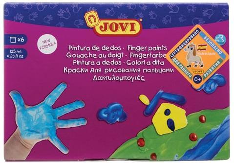 Пальчиковые краски Jovi Для рисования руками 6 цветов цена