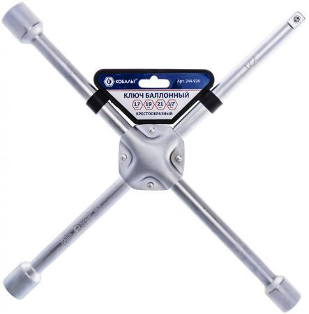 Ключ баллонный КОБАЛЬТ 244-926 крестообразный 171921 1/2 400мм CR-V подвес цена